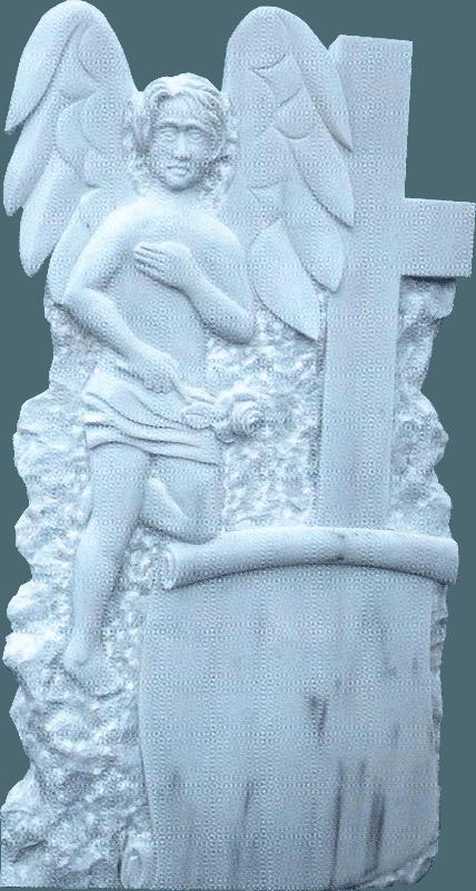 Monumente funerare, cruci marmura